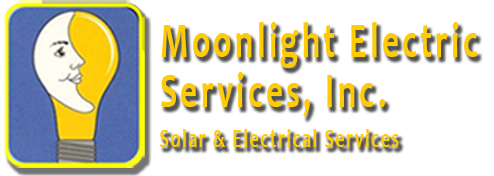 Moonlight Electric Services, Inc. Solar & Electrical Services Mobile Logo.