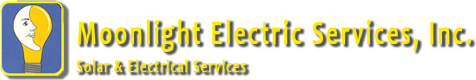 Moonlight Electric Service, Inc. Solar & Electrical Services Logo.
