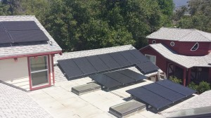 Rooftop installed solar panels